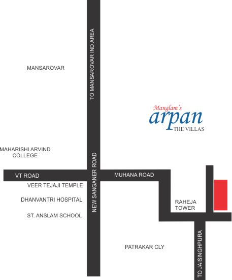 Location Map Arpan The Villas in Jaipur
