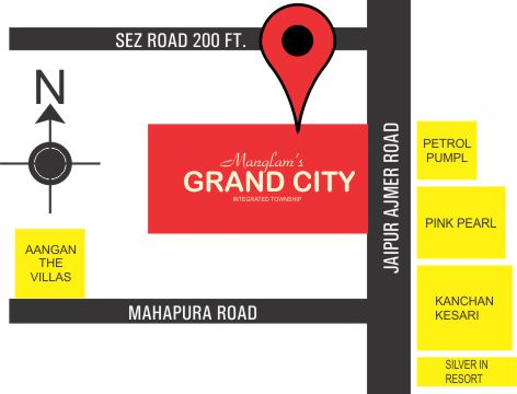 Location Map Manglam Grand city