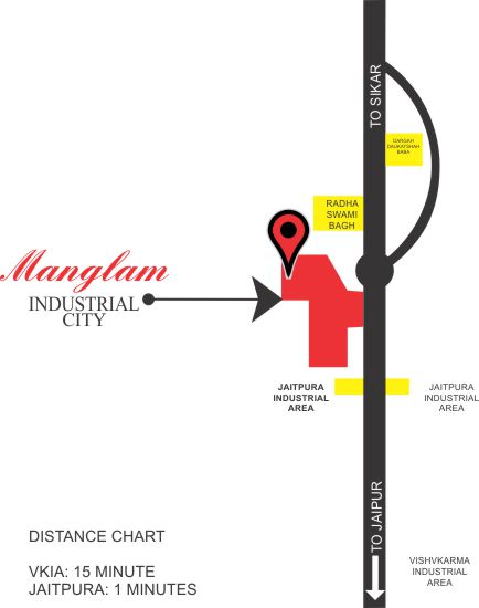 Location-Map Kanakpura Industrial Area