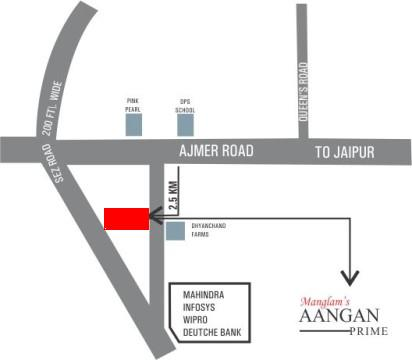 Aangan Prime Location-Map