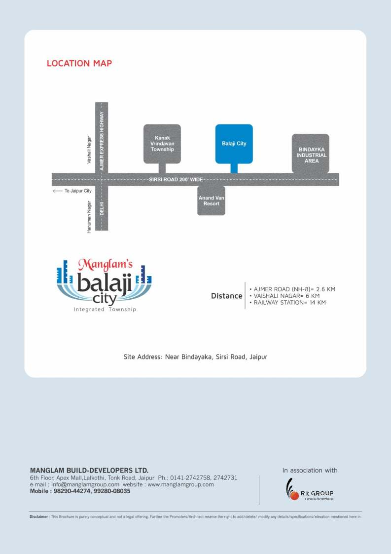 Location Map Manglam Vaishali Estate