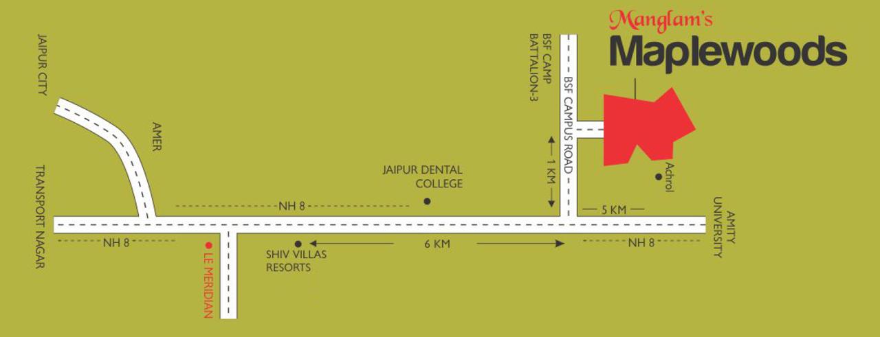 Location Map Manglam Maple Woods