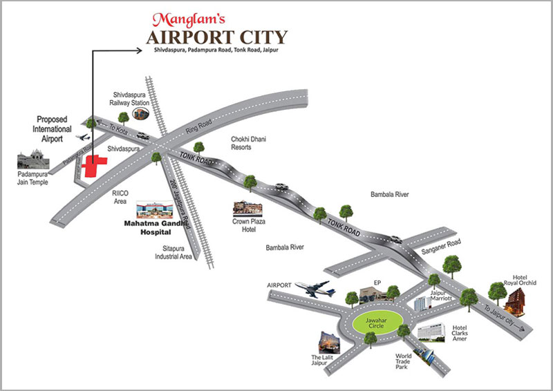 Manglam Airport City Location