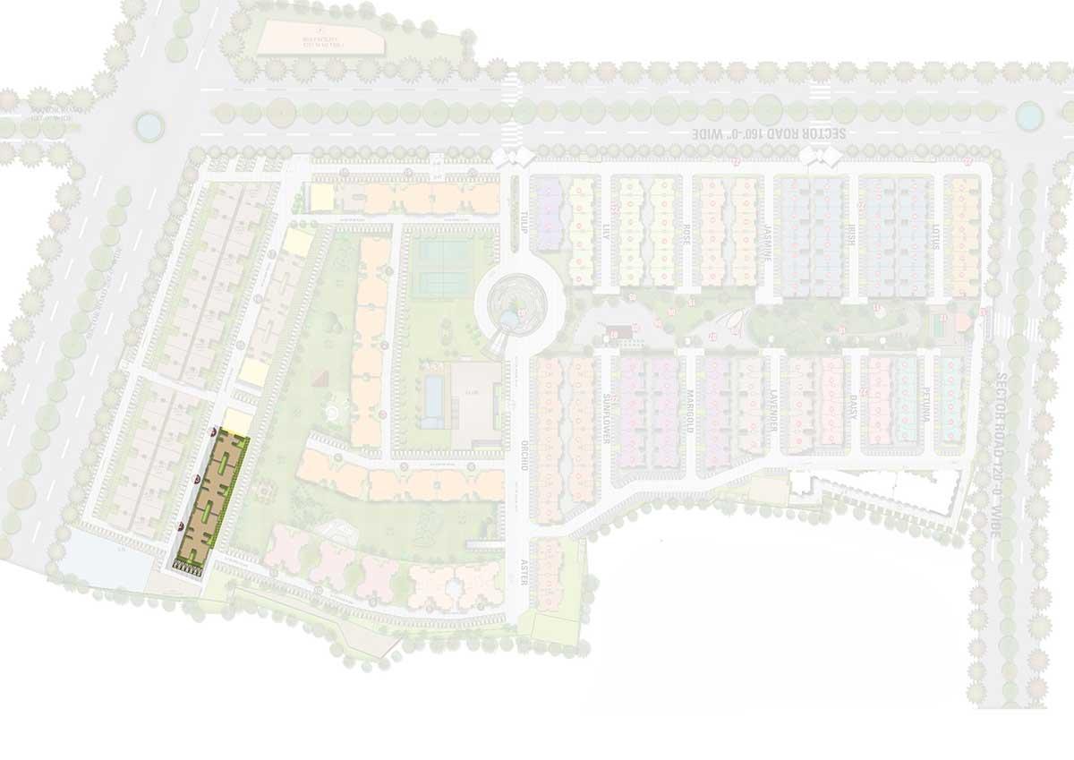Manglam's Riva Senior Citizen Layout Plan Map