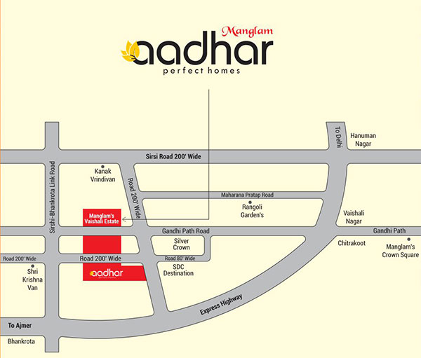 Location Map Vaishali Estate