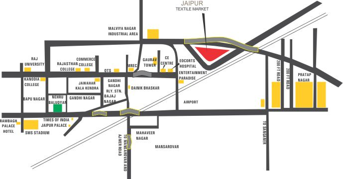 JTM Mall - Manglam Jaipur Textile Market Location Map