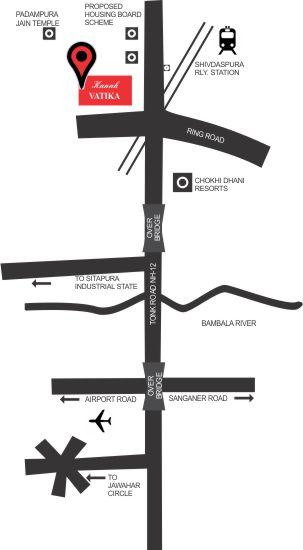 Location Map Manglam City Alwar
