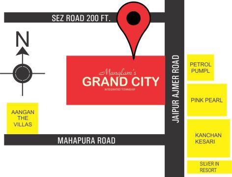 Location Map Manglam Grand city