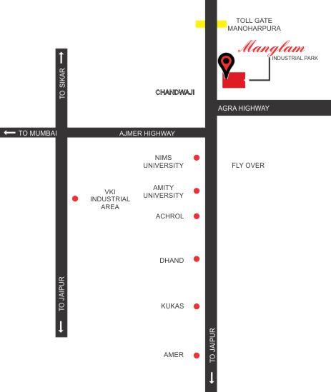Location-Map Kanakpura Industrial Area