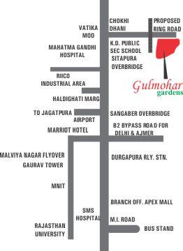 Location Map Manglam Gulmohar Gardens