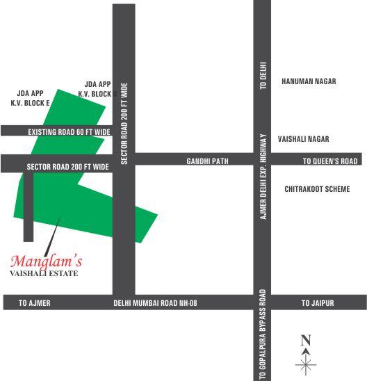 Location Map JEM - Jaipur Electronic Market