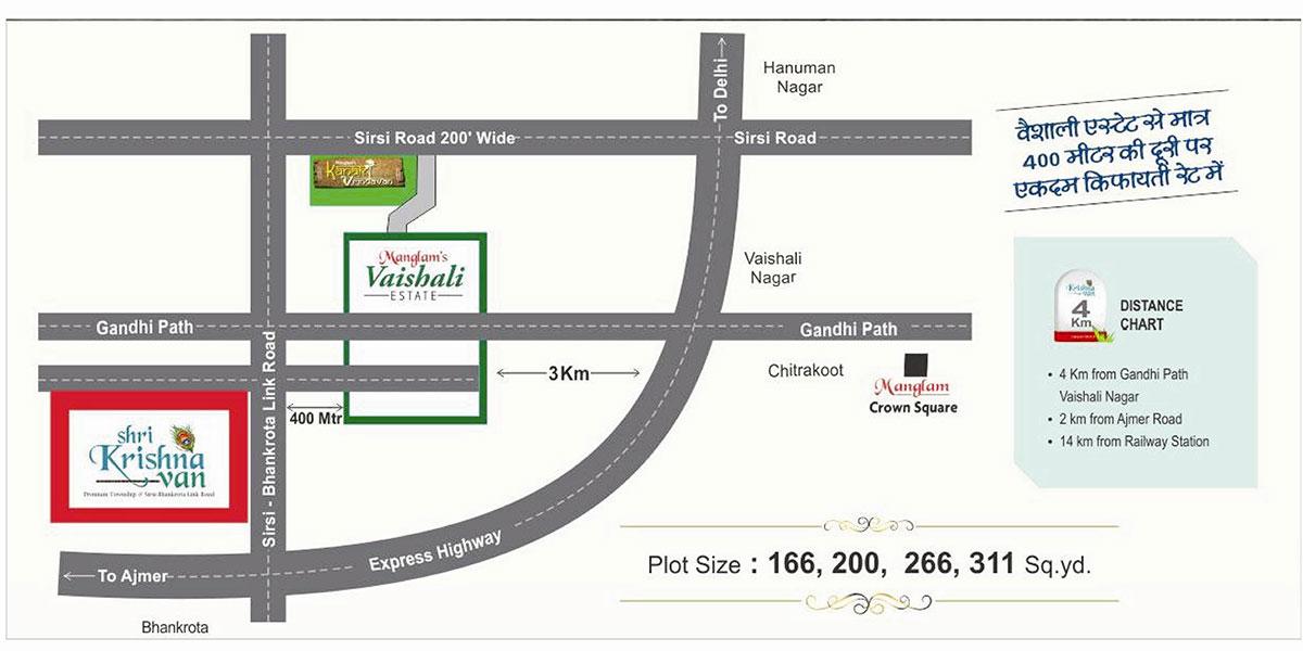 Location Map Manglam Shri Krishna Van