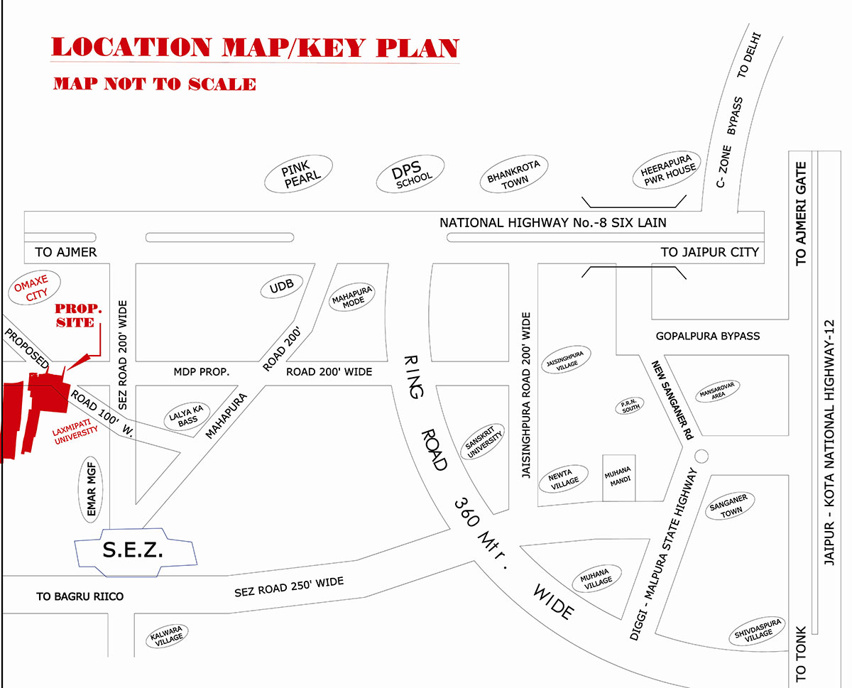 Location Map Manglam Park View
